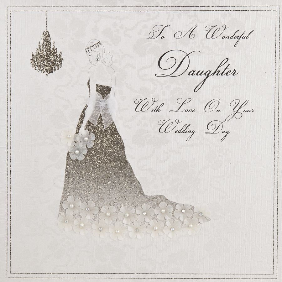 Daughter Large Wedding Card